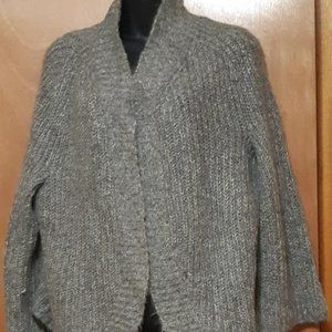 Nine West Knitted Open Cardigan Gray Size L